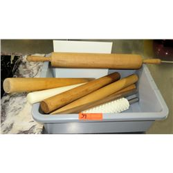 Misc Wooden Rolling Pins, Dough Rollers