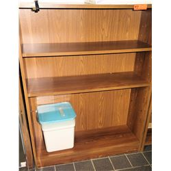 "4 Tier Press Wood Shelf Shelving Unit w/ Square Storage Bin Container 37""L x 12""D x 47.5""H"