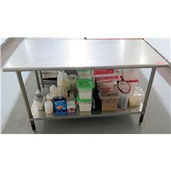 "Steel Working Prep Table, 59.5""L x 29.5""W x 36""H"