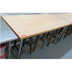 Wood & Metal Working Table w/ Steel Legs, 72 L x 30.25 W x 36 H
