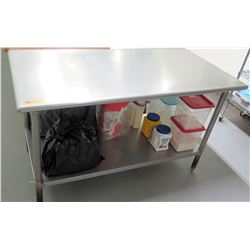 Steel Prep Table 59.5 L x 29.5 W x 36 H