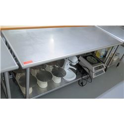 Steel Working Prep Table, 71.5 L x 29.5 W x 35 H