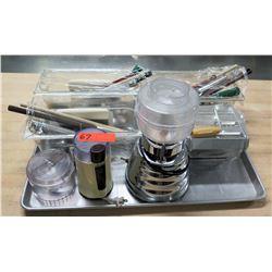 Osterizer Blender Processor, Coffee Grinder & Misc Utensils - Whisks, etc