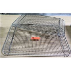 Qty 2 Large Metal Wire Cooling Racks