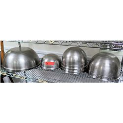 Multiple Misc Stainless Steel Round Cooking Bowls - Misc Sizes