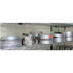 Multiple Misc Stainless Steel Round Cake Pans, Pie Pans, etc
