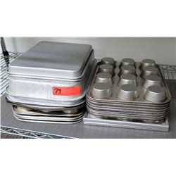 Multiple Misc Rectangle Baking Sheets, Pans, Muffin Tins, etc