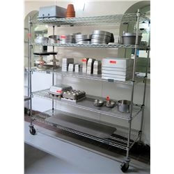 Metro Super Erecta Large Metal Adjustable Kitchen Shelf Unit on Wheels 72 L x 24 W x 80 H