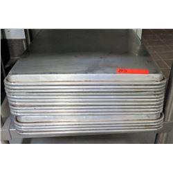 """Qty 13 Baking Sheet Pans, 26""""L x 18""""W"""