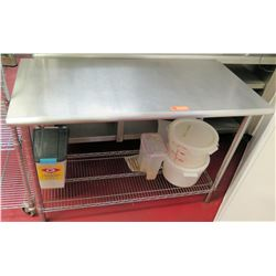 Stainless Steel Prep Table, 49.5 L x 24 W x 35.5 H