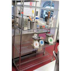 Metro Super Erecta Large Metal Shelving Unit w/ Wheels 48 L x 18 W x 79 H