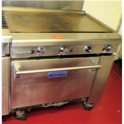 Imperial Commercial Oven w/ Grill Griddle Range, 36 L x 29 D x 36 H
