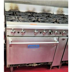 Imperial Commercial Oven Restaurant Range w/ 6 Gas Burners Range