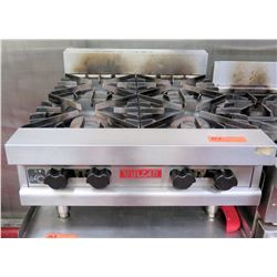 "Vulcan Commercial Countertop 4 Gas Burners Range 24""W x 28""D x 12""H"