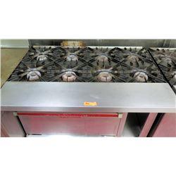 "Vulcan Commercial Oven Restaurant Range w/ 6 Gas Burners Range, 48""W x 28""D x 36.5""H"