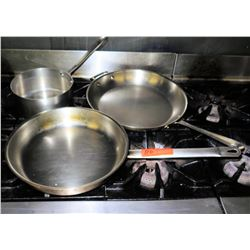 Qty 3 Misc Pots & Pans