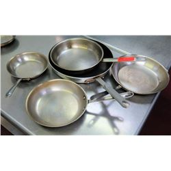 Qty 5 Misc Sizes Commercial Frying Pans