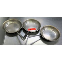 Qty 3 Misc Sizes Commercial Frying Pans