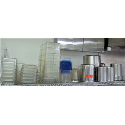 Multiple Misc Plastic & Stainless Containers - Square, Round, Nesting, etc