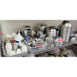 Multiple Bowls & Utensils - Stainless Mixing Bowls, Funnel, Ramekins, etc