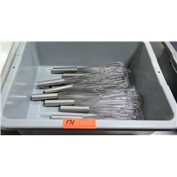 Bin Multiple Misc Metal Wire Whisks