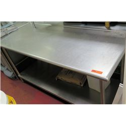"Steel Working Prep Table, 71""L x 30""W x 35.5""H"