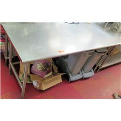 Steel Working Prep Table, 72 L x 30 W x 36 H
