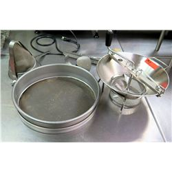 Inox Stainless Steel LT5 France Sieve & 2 Misc Sifters