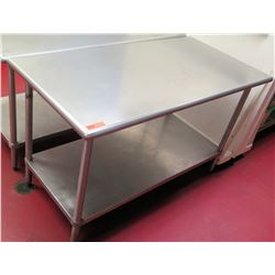 "Steel Commercial Working Prep Table 59.5""L x 30""W x 36""H"