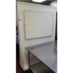 Large Rolling Wheeled White Room Divider w/ White Board