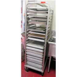 Epco Rolling Sheet Pan Cooling Rack Shelf w/ Baking Sheets, 26.5 L x 20.5 D x 69 H