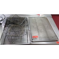Multiple Misc Sized Metal Wire Cooling Racks