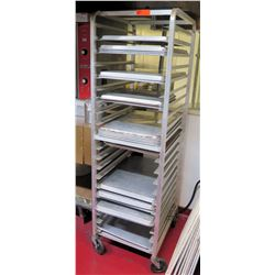"Tall Rolling Sheet Pan Mobile Pan Cooling Rack Shelf w/ Baking Sheets 26""L x 20.5""W x 69""H"