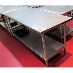 Steel Commercial Working Prep Table 72 L x 30 W x 36 H