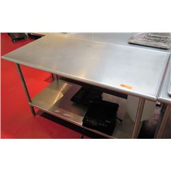 "Steel Commercial Working Prep Table, 60""L x 30""W x 35.5""H"
