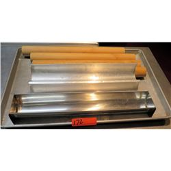 Baking Sheet with Multiple Misc Tube Pans & Wooden Rolling Pins