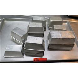 Multiple Misc Stainless Steel Square Cake Pans, Meat Loaf Pans, etc