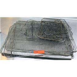Multiple Misc Size Shape Metal Wire Cooling Racks