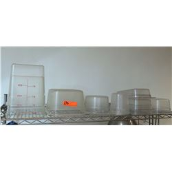 Multiple Misc Size Plastic Round Square Storage & Measuring Containers