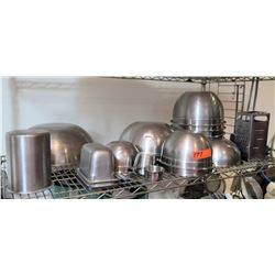 Multiple Misc Stainless Steel Mixing Bowls, Storage Containers, etc