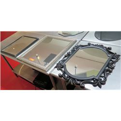 Qty 3 Decorative Mirrors - Rectangle & Ornate