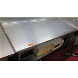 Stainless Steel Prep Table, 71.5 L x 30 W x 35.5 H