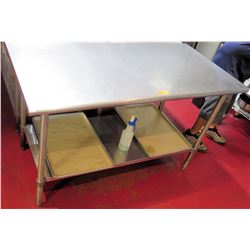 "Stainless Steel Prep Table 60""L x 30""W x 36""H"