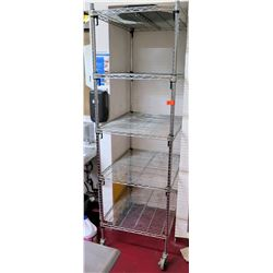 Tall Rolling Sheet Pan Rack Shelf w/ Misc Loaf Pans 30 L x 24'W x 79 H