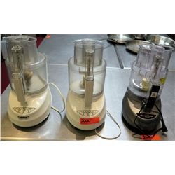 Qty 3 Food Processors - 2 @ Cuisinart & Other