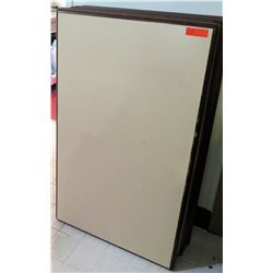 "Qty 5 Large Wood Framed Cork Boards 48""L x 30""W"