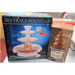 Rival Beverage Fountain in Box & Chocolate Fondue Fountain