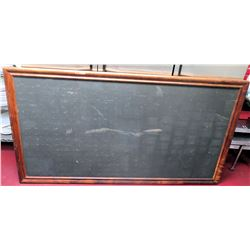 Large Wood-Framed Black Corkboard (Koa?)