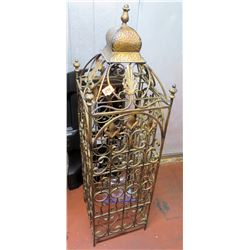 Metal Footed Ornate Standing Wine Rack