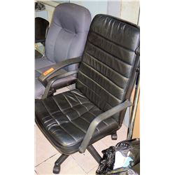 Qty 2 Executive Office Chairs on Wheels w/ Armrests